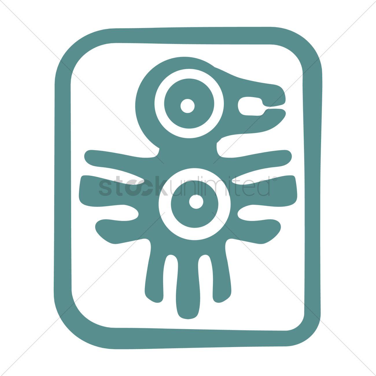 Aztec Symbol Design Vector Image 2014263 Stockunlimited