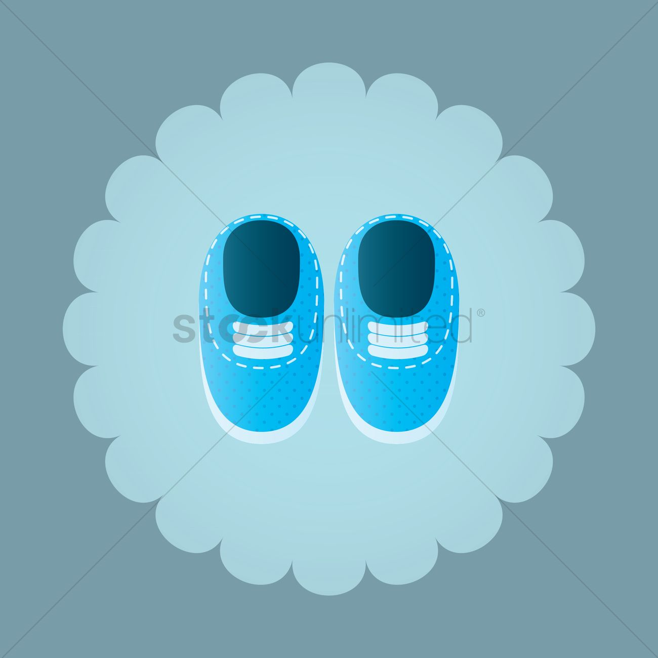 Free Baby Shoes Vector Image 1242219 Stockunlimited