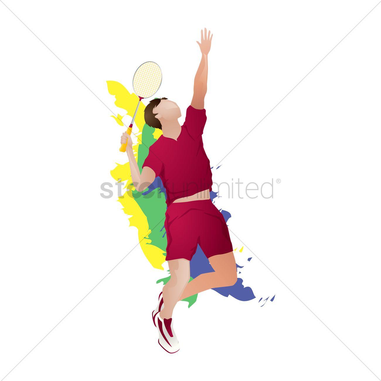 Badminton player png