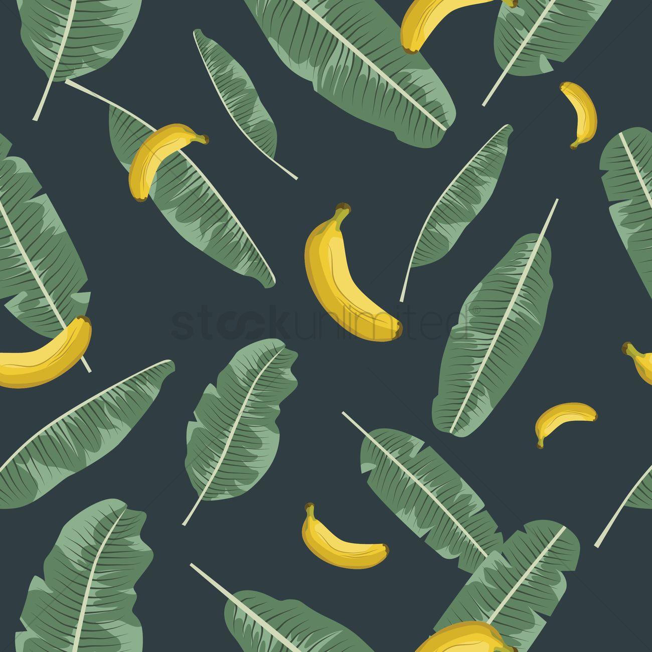 Banana background Vector Image - 1818171 | StockUnlimited