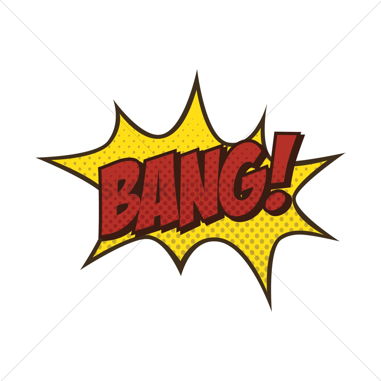 Bang Text With Comic Effect Vector Image 1822951