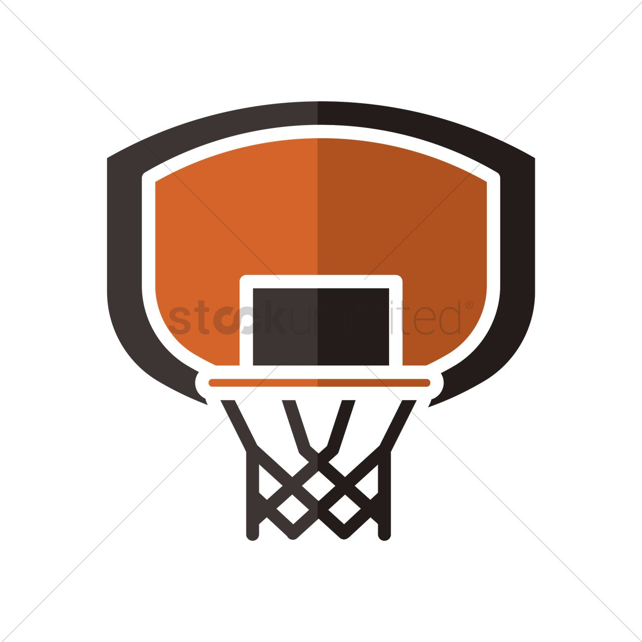 Basketball backboard and rim Vector Image - 1979143 ...