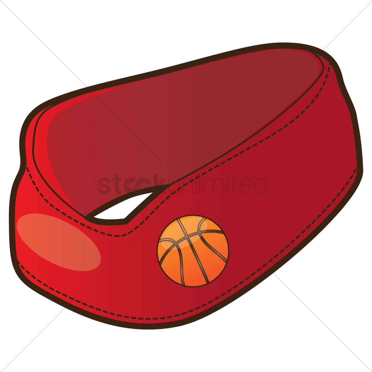 free basketball headband vector image 1376795 stockunlimited