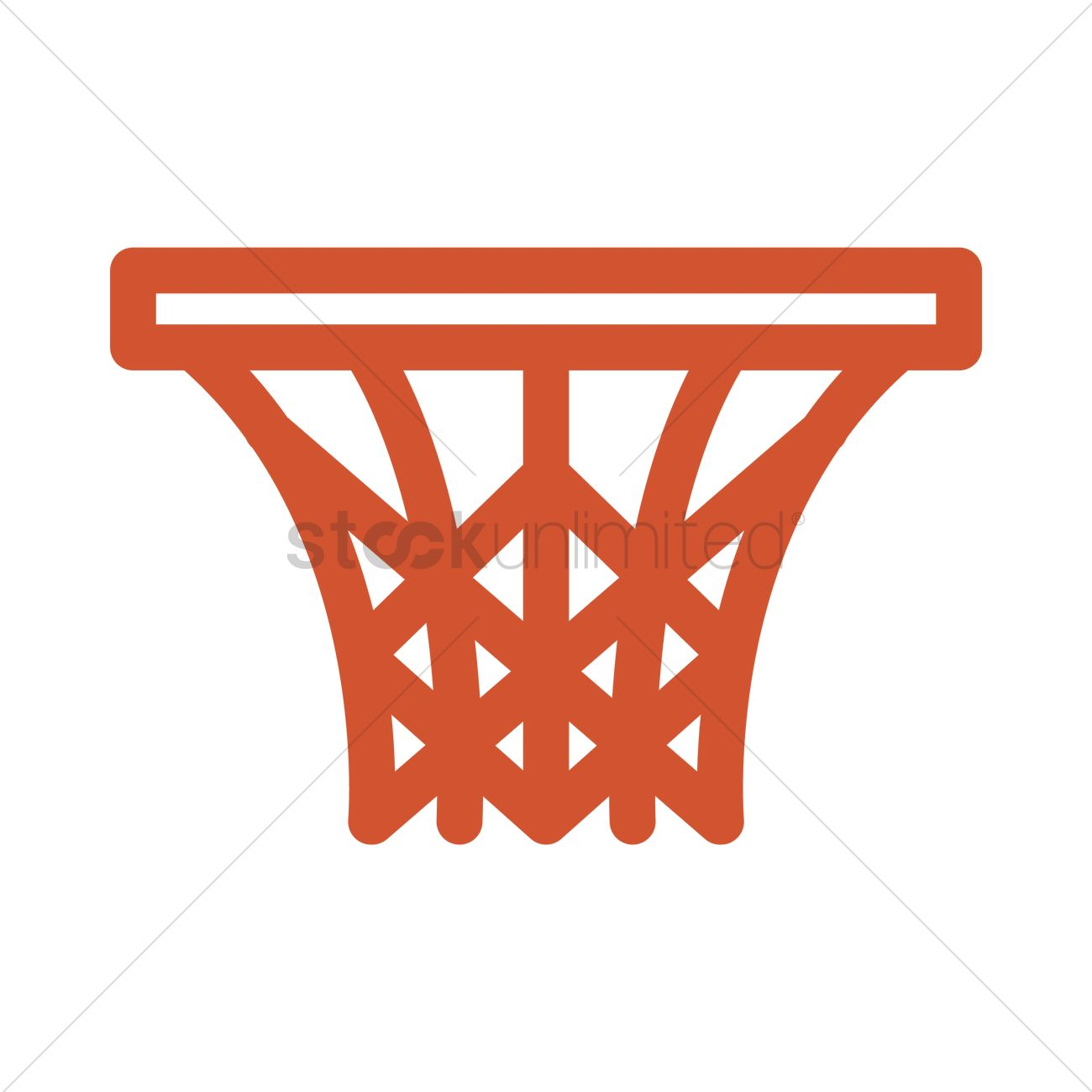 Basketball Hoop Vector Image 1992843 Stockunlimited