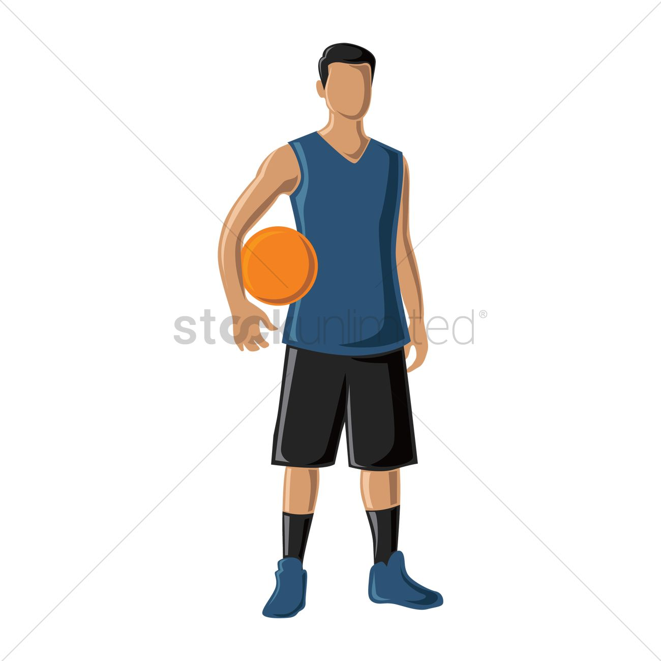 free basketball player holding ball vector image 1566411