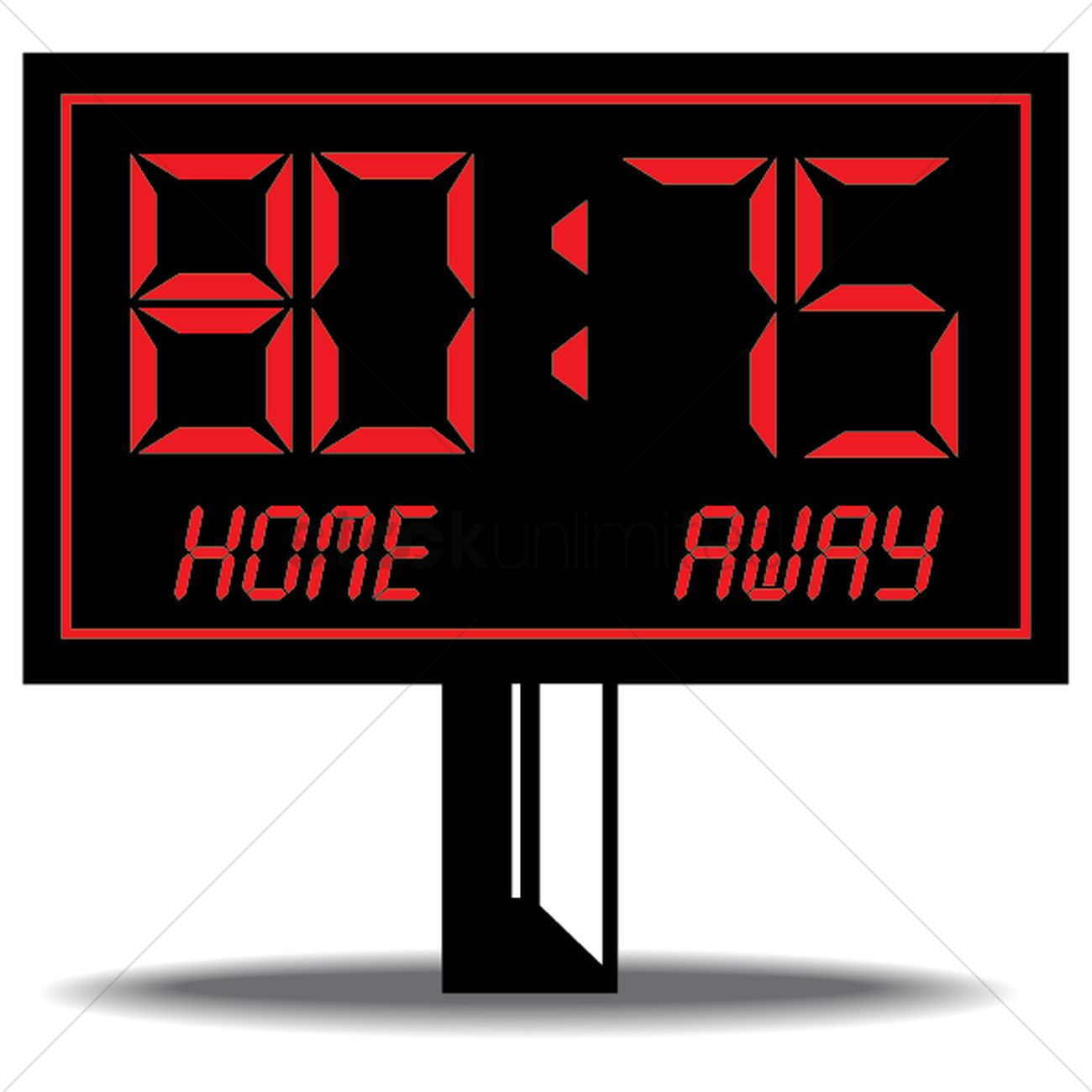 basketball scoreboard vector image 1434023 stockunlimited rh stockunlimited com blank scoreboard clipart football scoreboard clipart