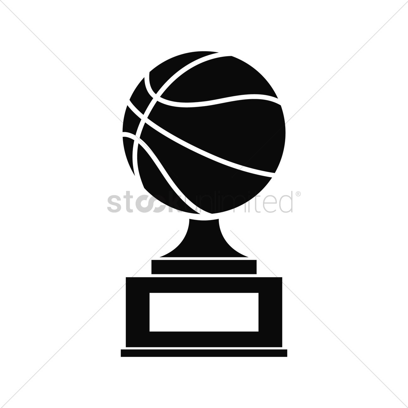 Basketball Trophy Vector Graphic