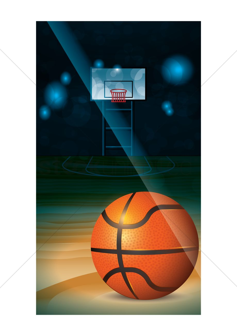 basketball wallpaper for mobile phone vector graphic