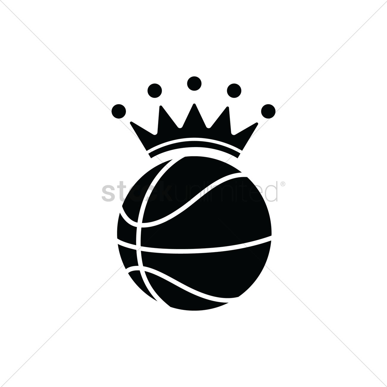 basketball with a crown vector image 1979511 stockunlimited