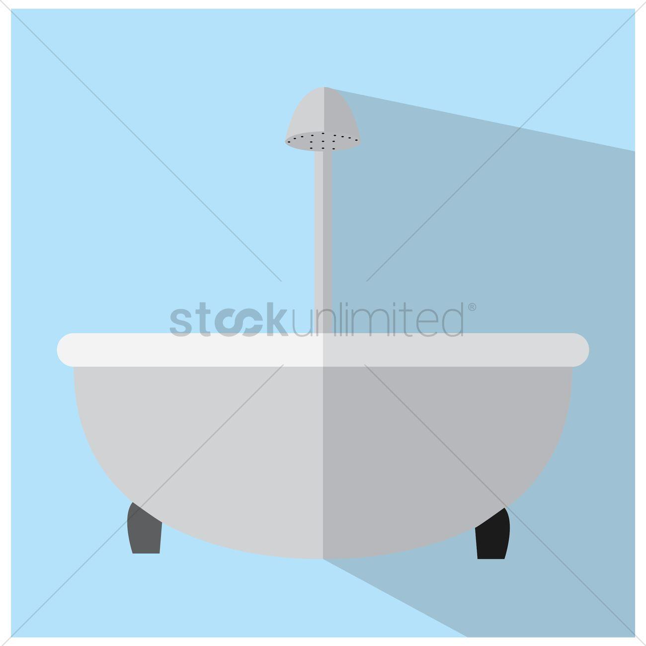 Bathtub Vector Image - 1476019 | StockUnlimited