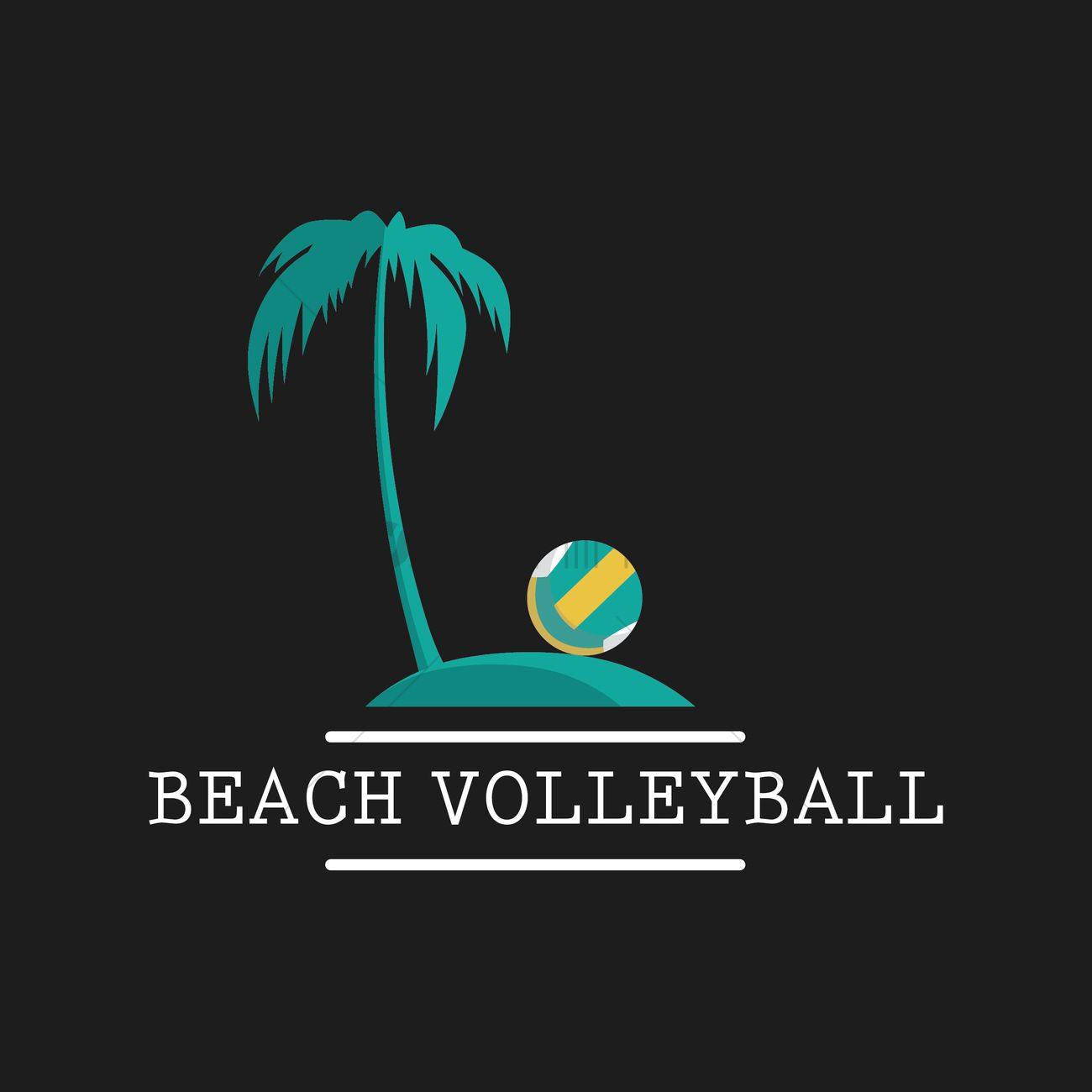 beach volleyball wallpaper vector graphic