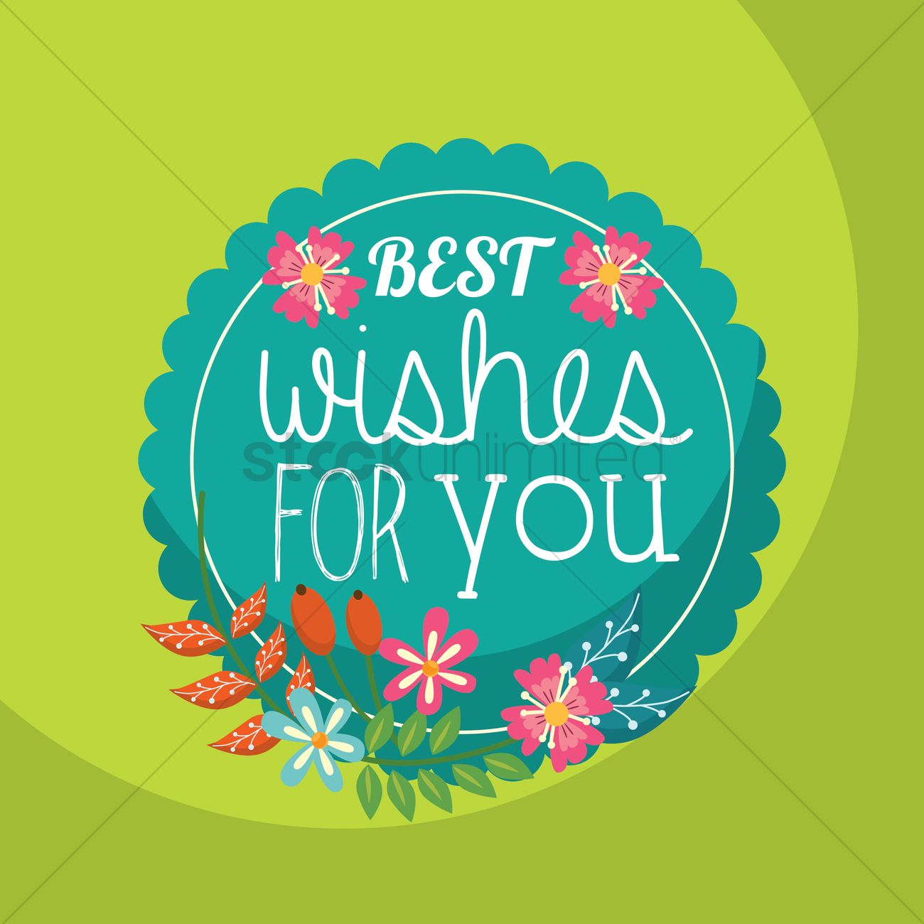 Best Wishes For You Vector Image - 1811267
