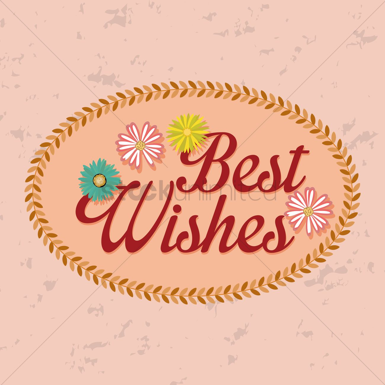 Best Wishes Label Vector Image - 1827395