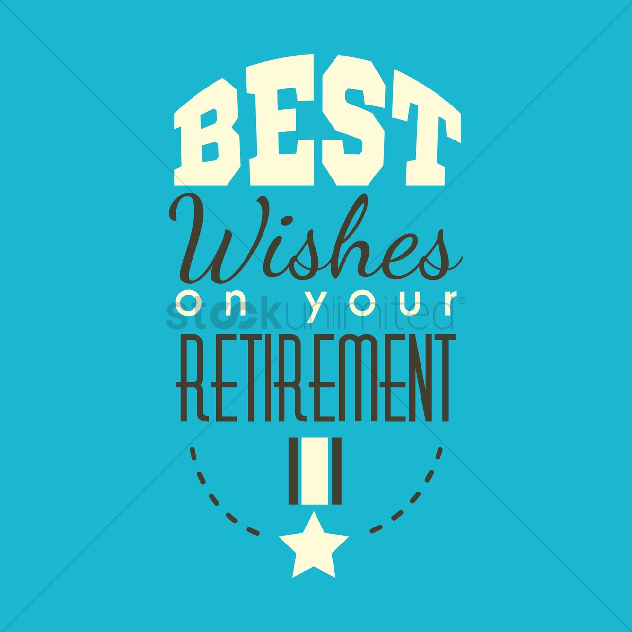 Best wishes on your retirement Vector Image - 1827319 ...