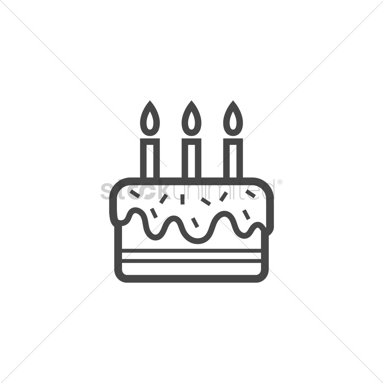 Birthday Cake Icon Vector Graphic