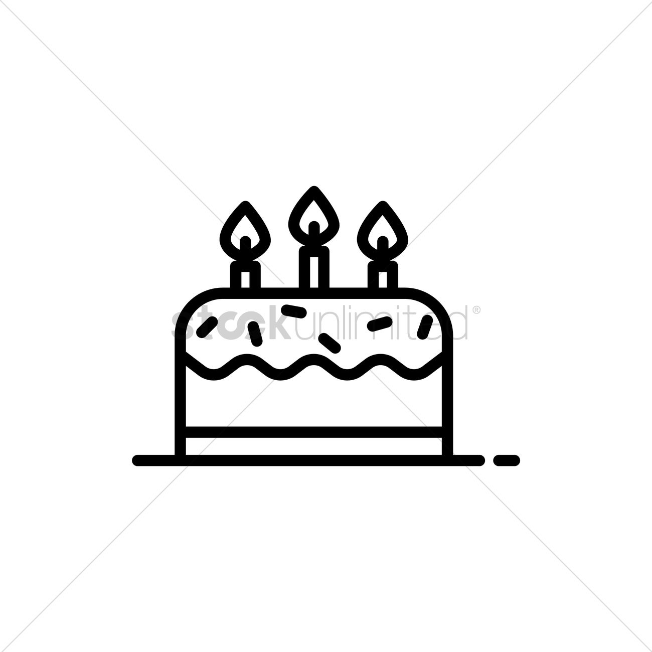 Birthday cake Vector Image 1992375 StockUnlimited