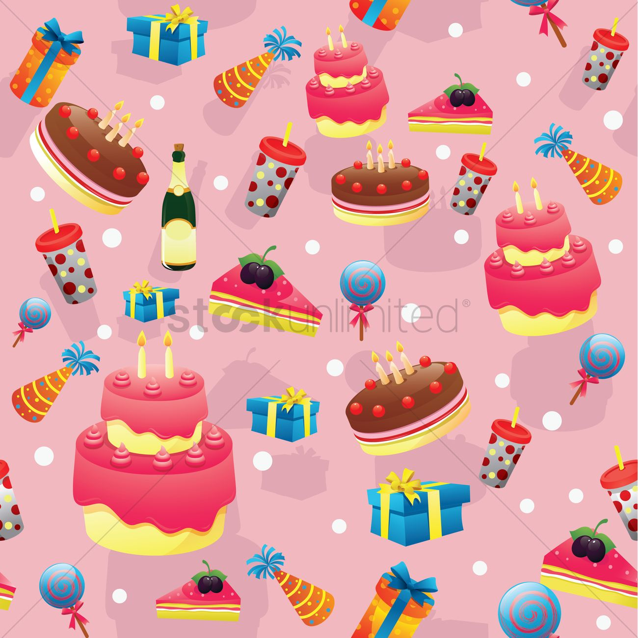 Birthday Party Background Vector Graphic