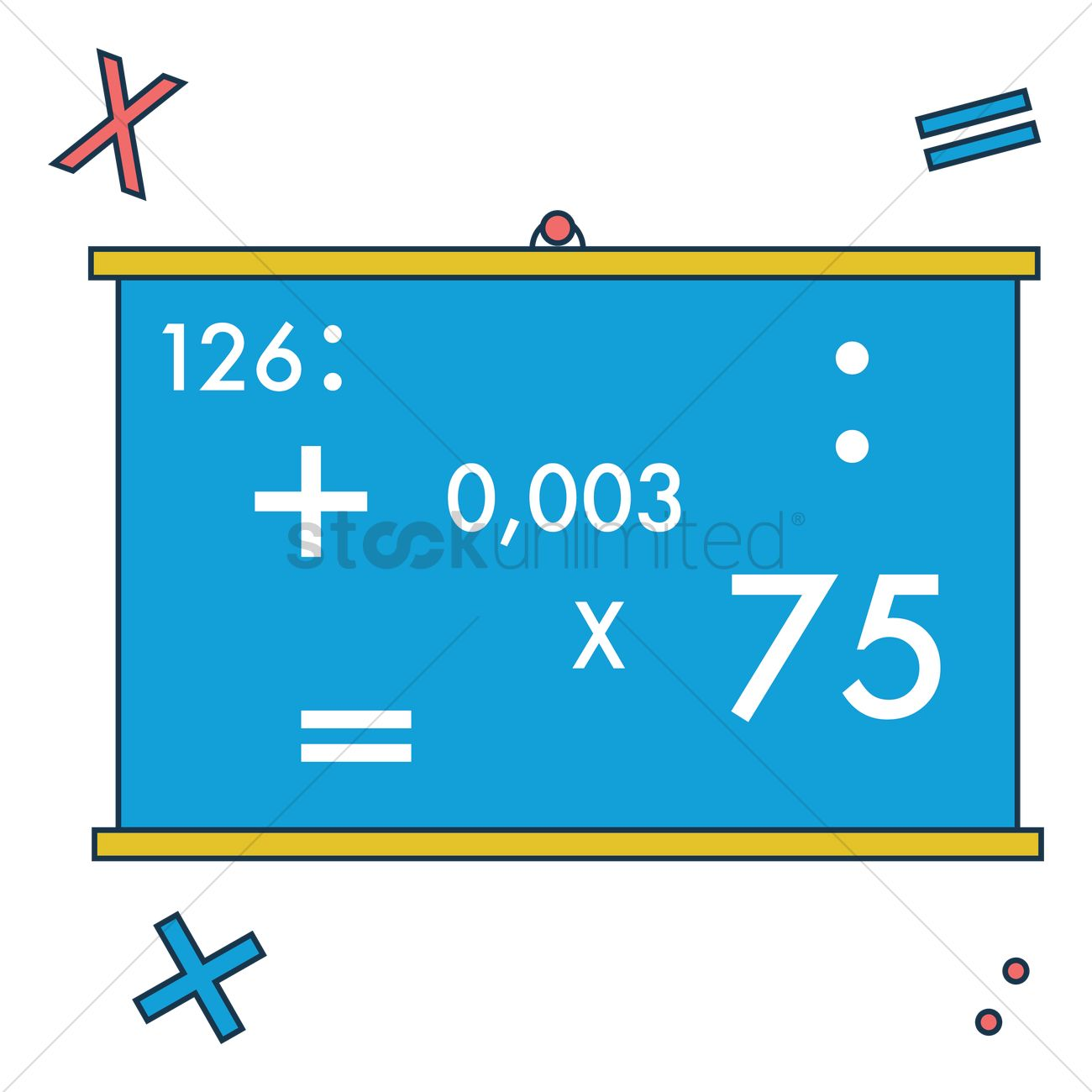 Free Blackboard with maths equation Vector Image - 1248431 ...