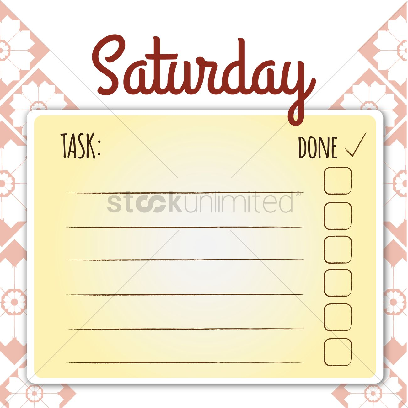 blank daily checklist template vector image - 1480055 | stockunlimited
