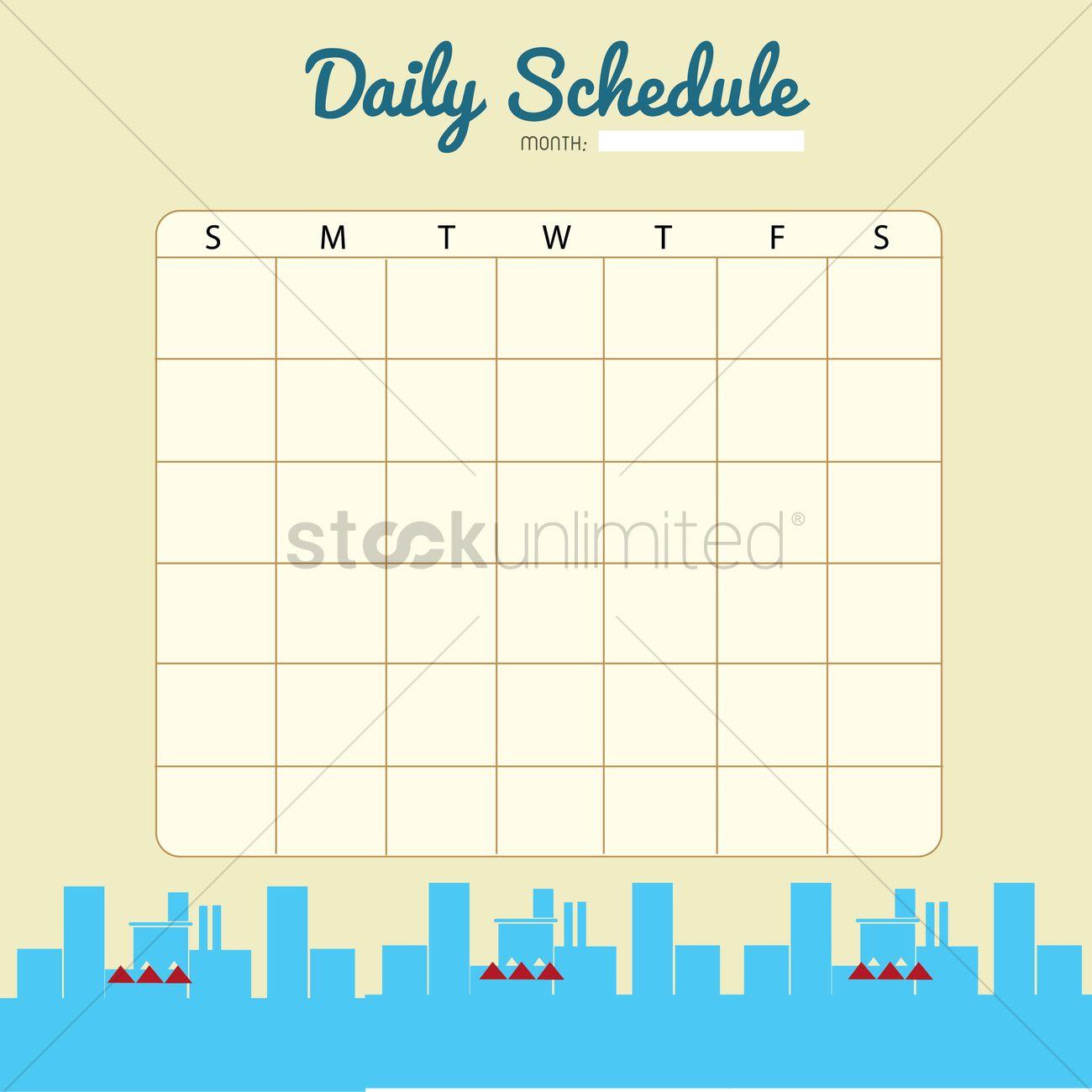 blank planner template