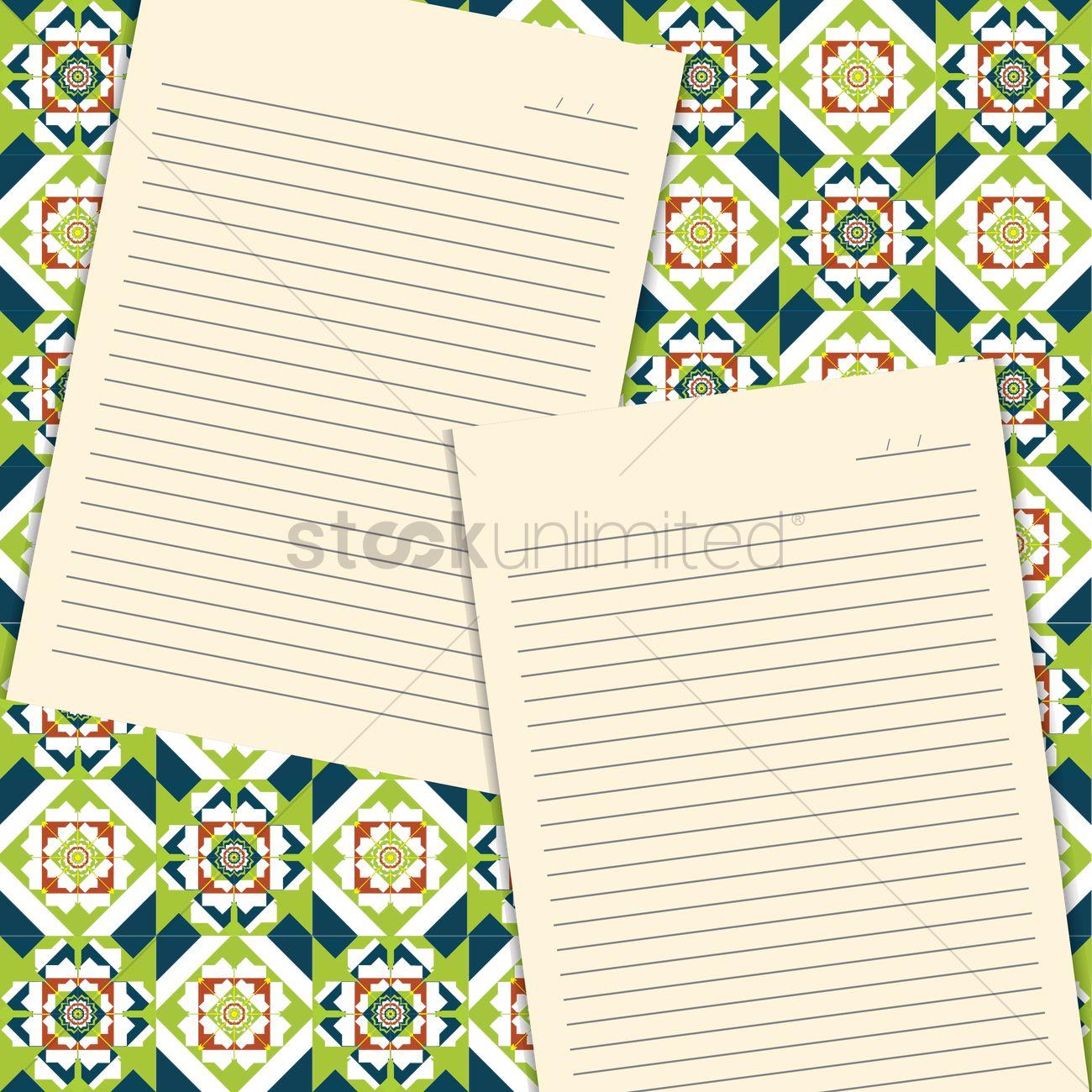 blank letter background