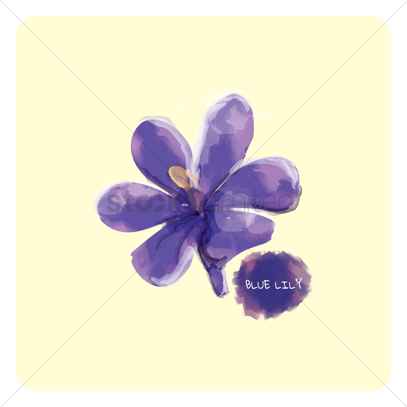Blue lily vector image 1610407 stockunlimited blue lily vector graphic izmirmasajfo