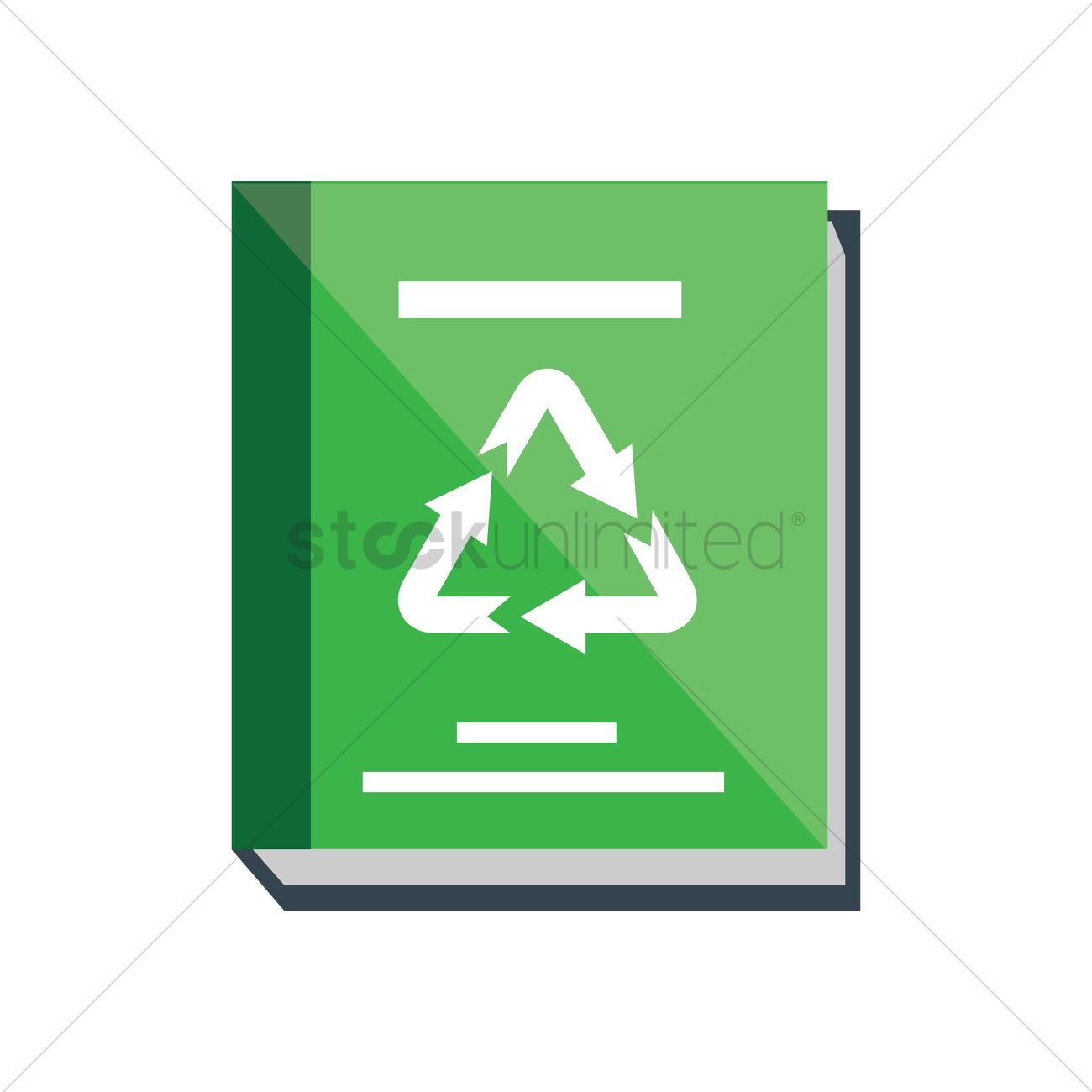 Book With A Recycle Symbol Vector Image 1272231 Stockunlimited