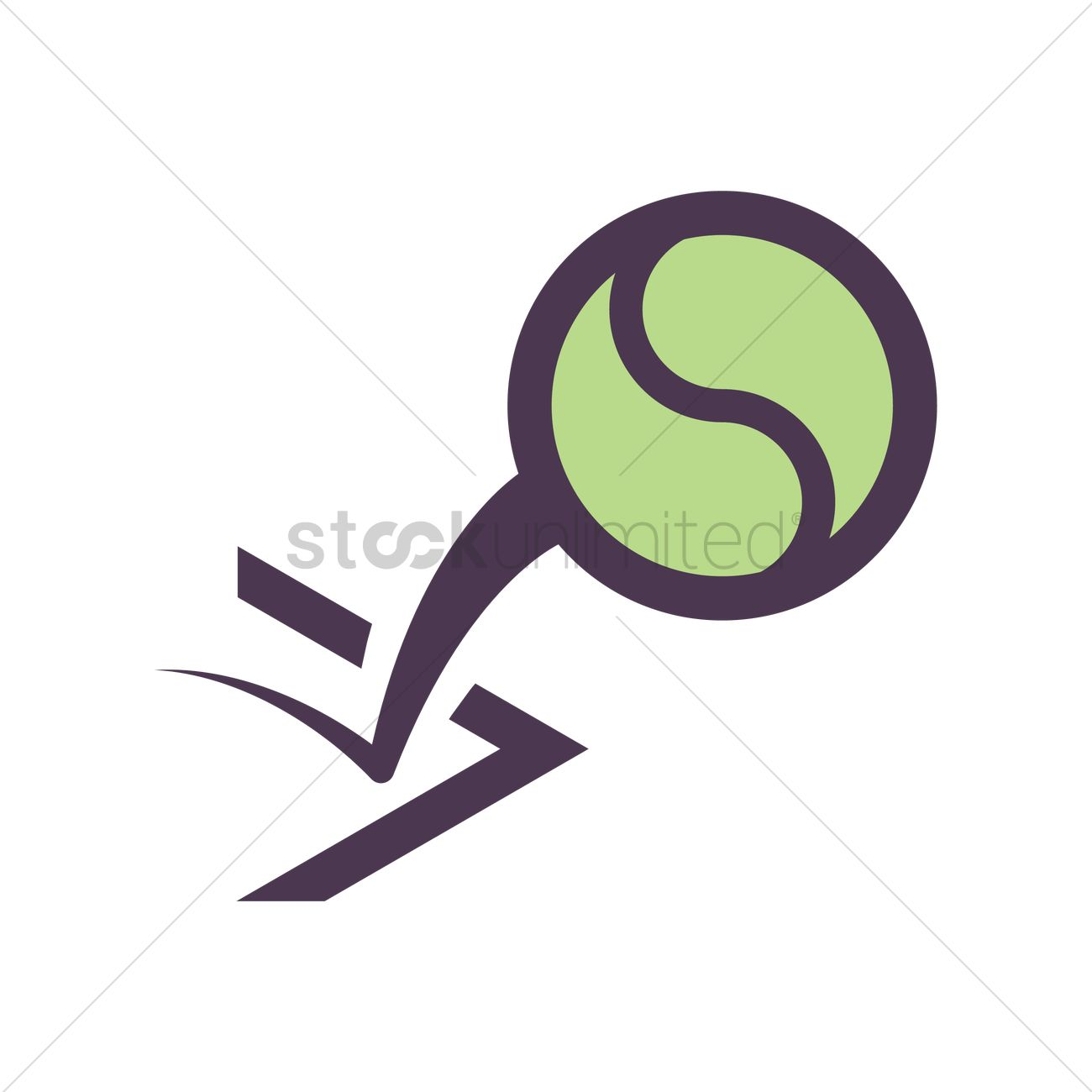Bouncing Tennis Ball Vector Image 1977703 Stockunlimited