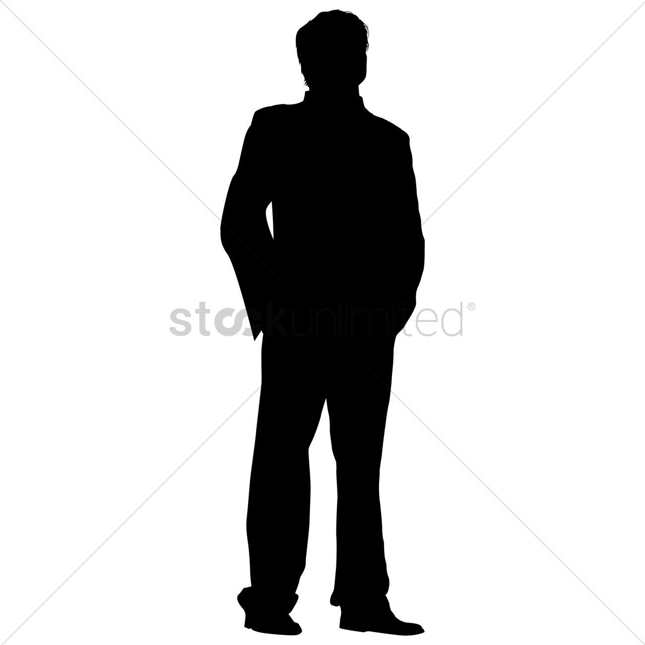 Businessman Standing Silhouette Vector Image