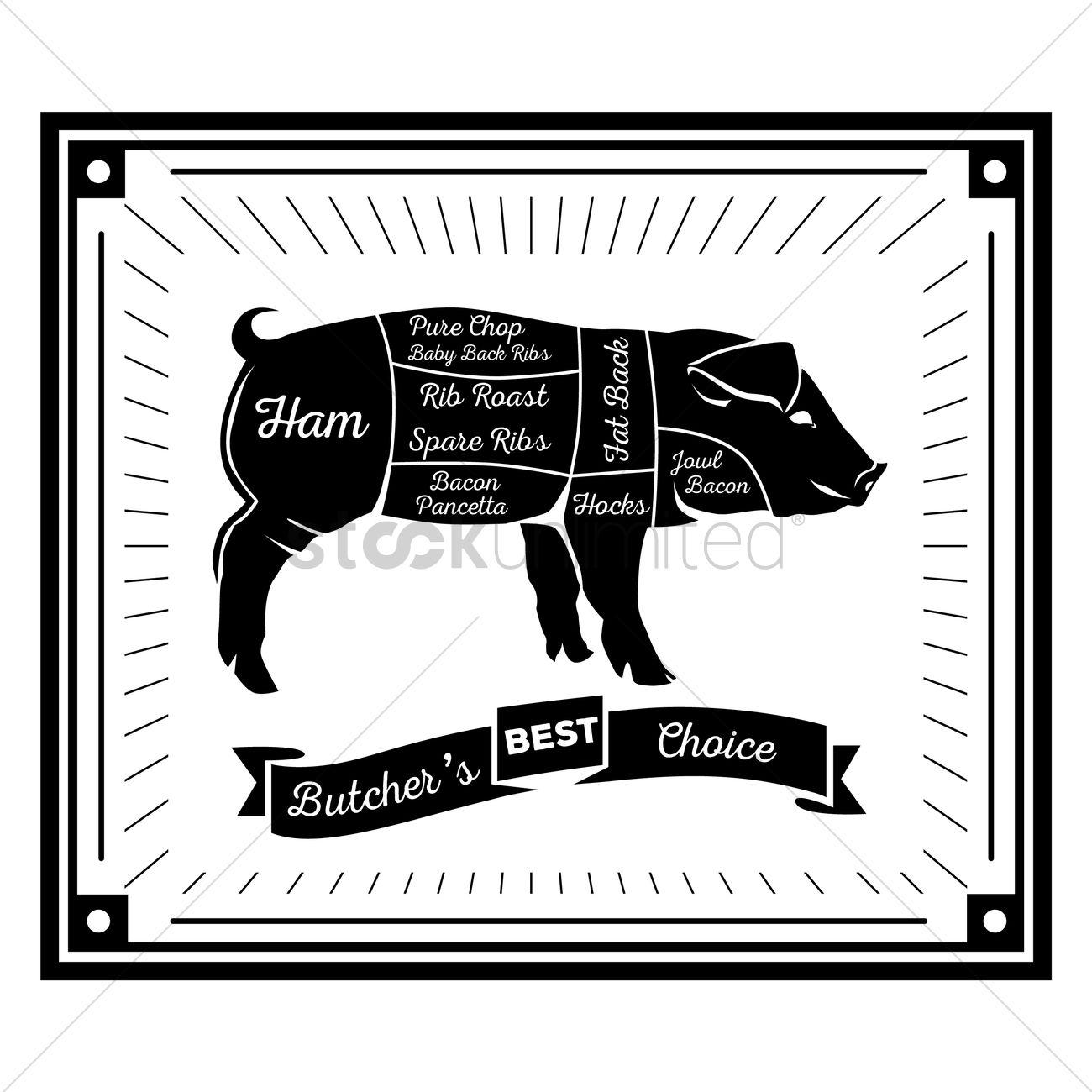 butcher pig cuts diagram_1490979 butcher pig cuts diagram vector image 1490979 stockunlimited