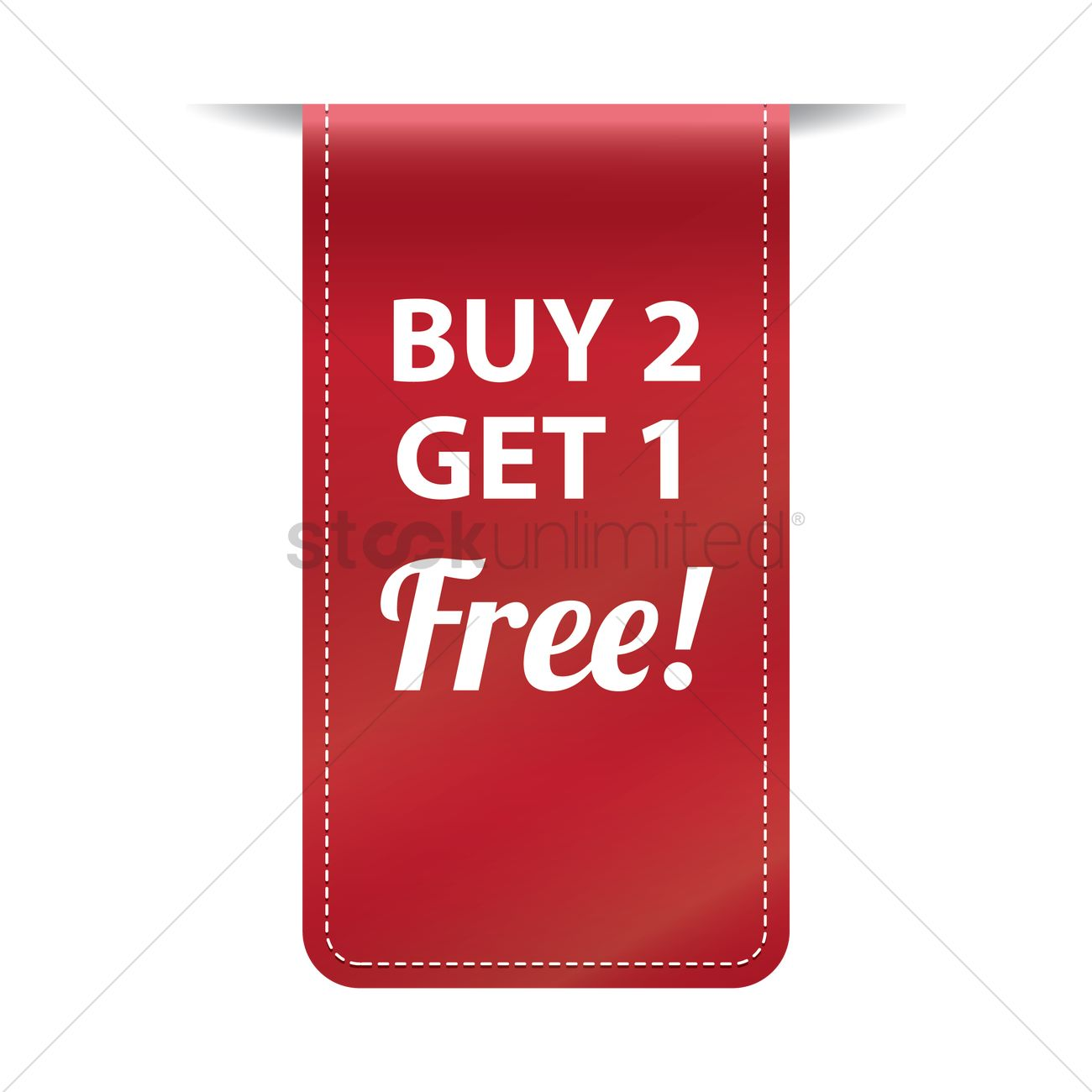 Free Buy Two Get One Free Banner Vector Image 1502091