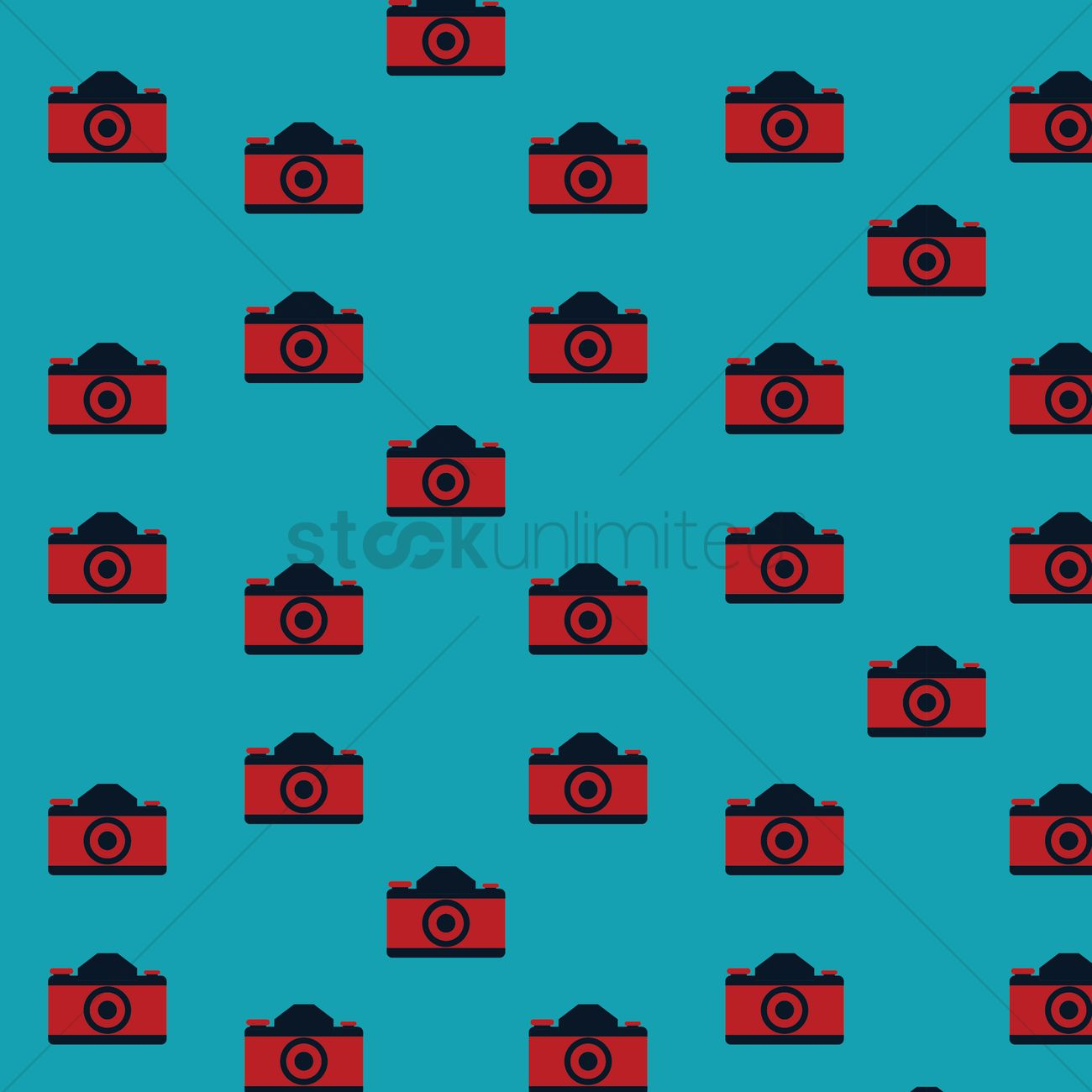 Camera Pattern Background Vector Graphic