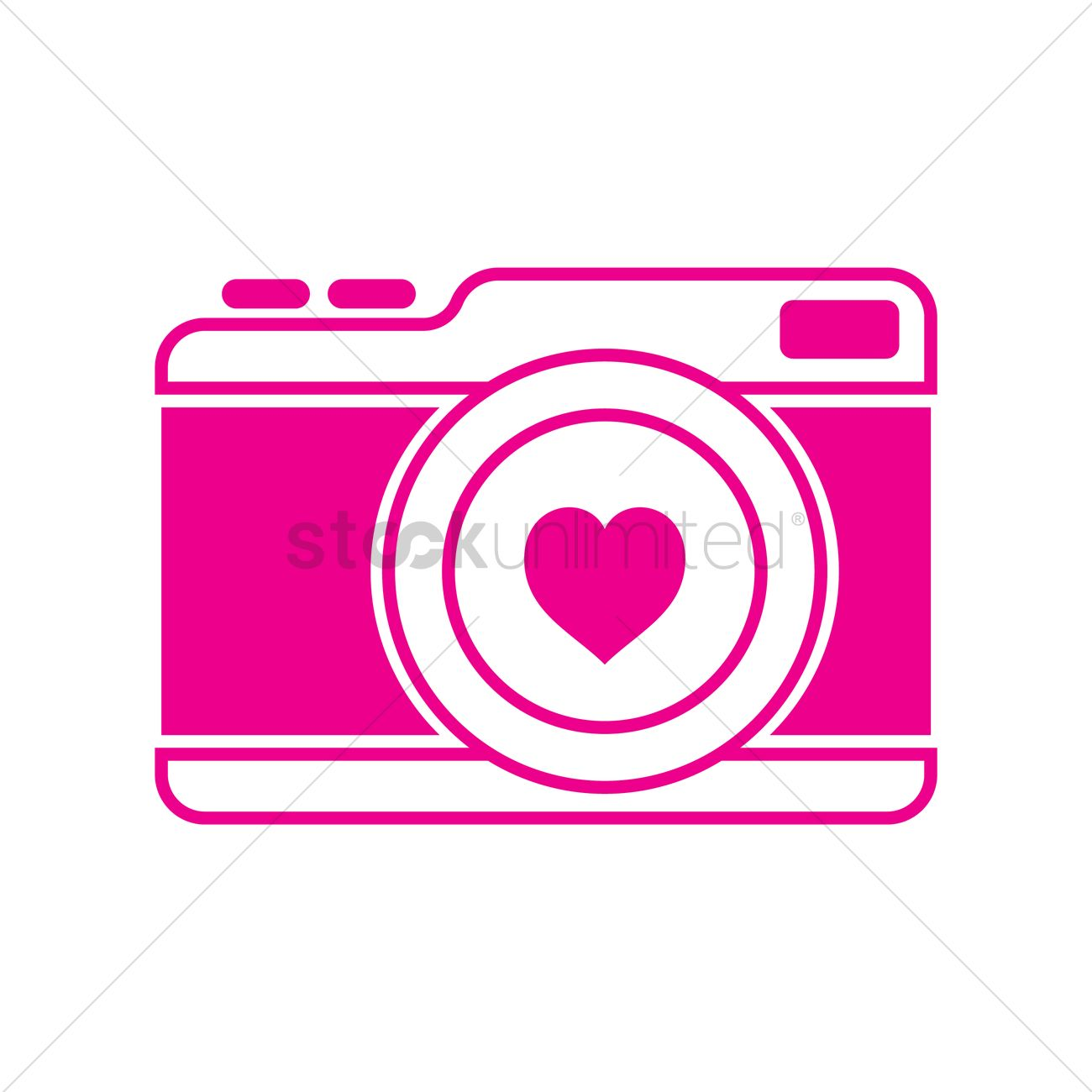 Camera With Heart Vector Image 1492955 Stockunlimited