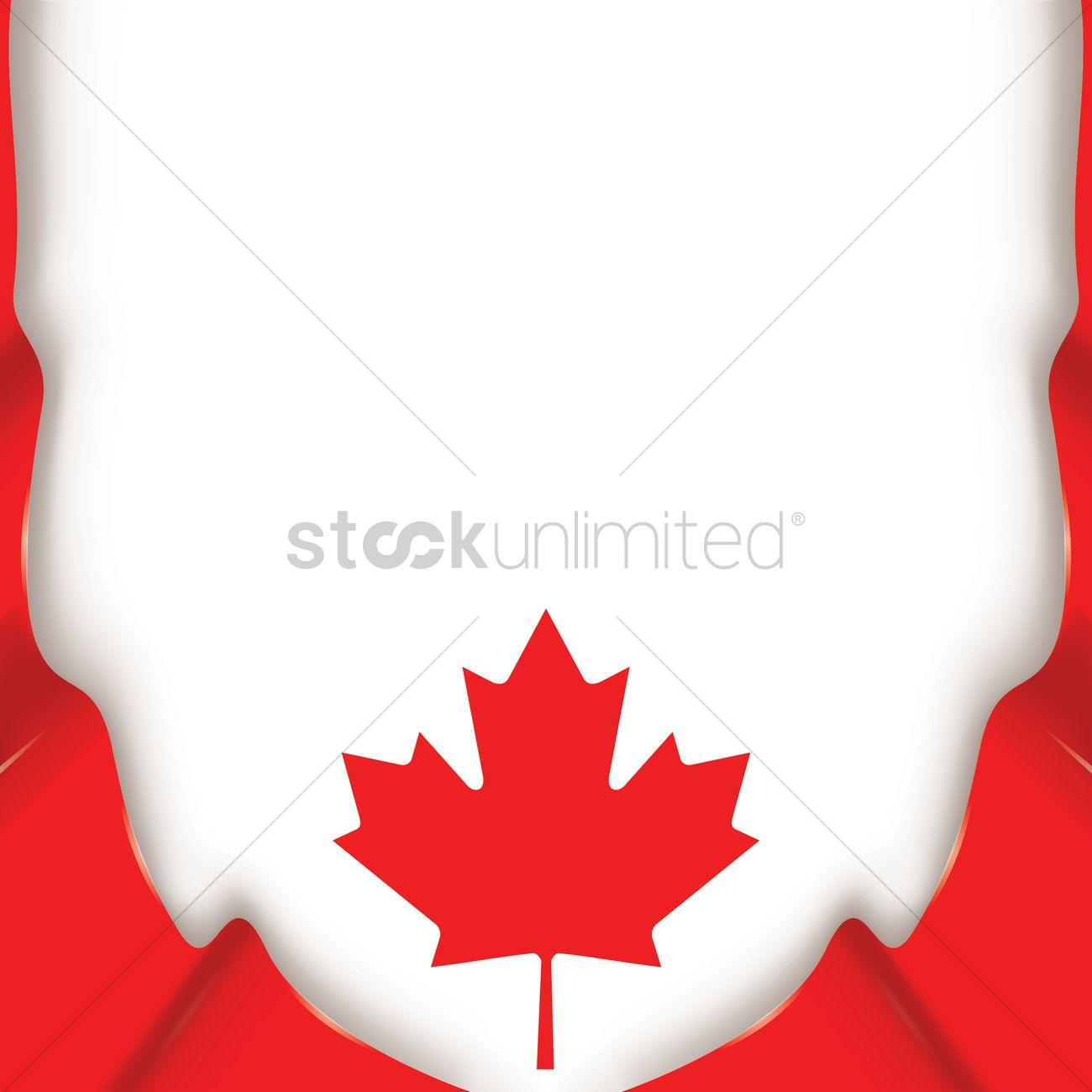 Canada Flag Wallpaper Design Vector Image 1974943