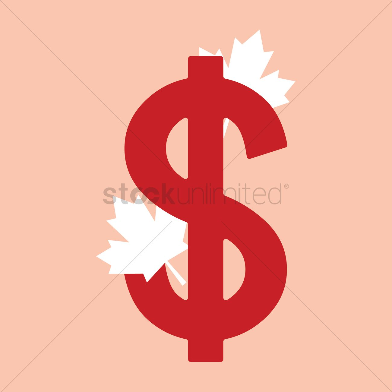 Canadian Dollar Vector Image 1963007 Stockunlimited