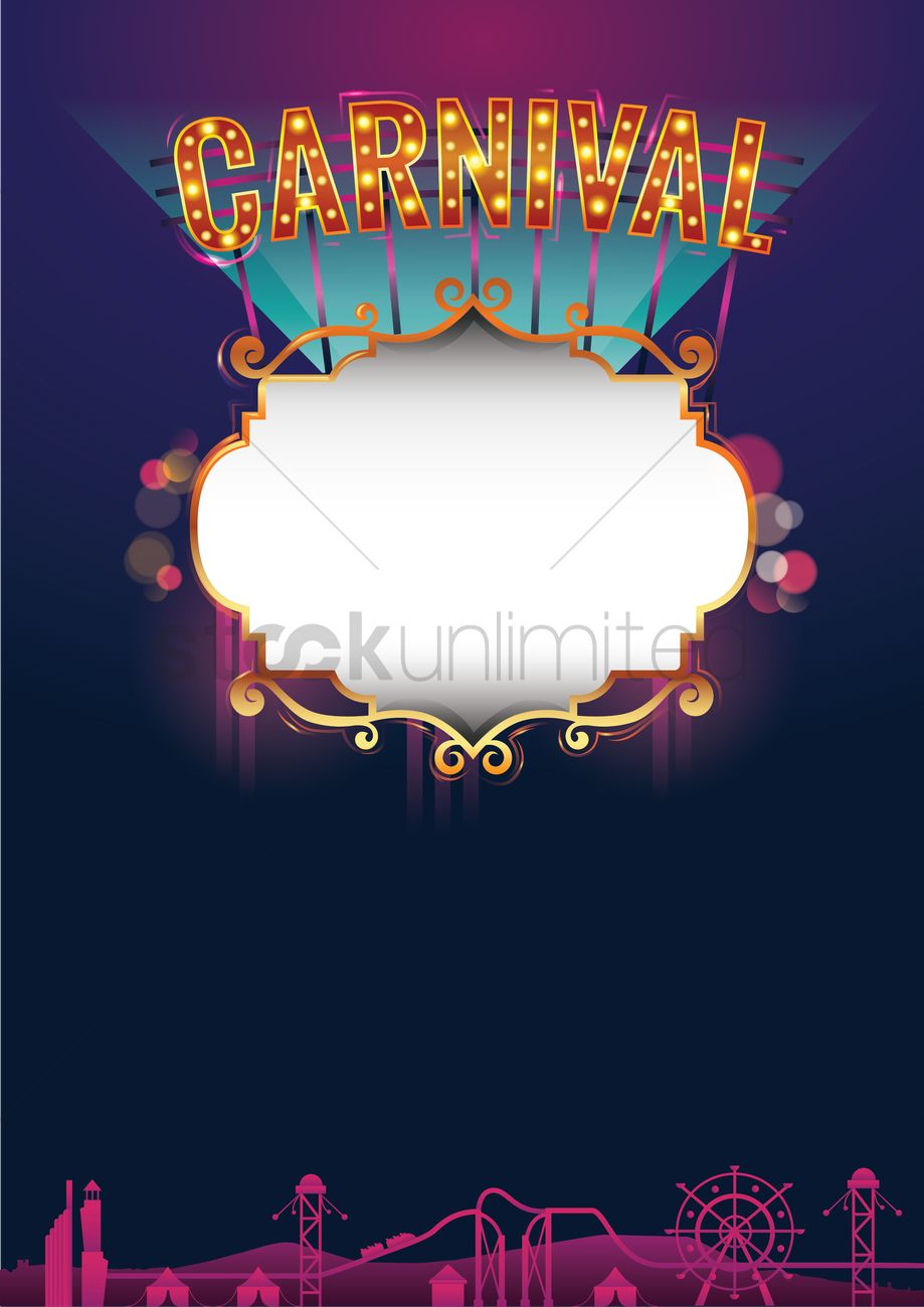 carnival poster design vector image 1960139 stockunlimited