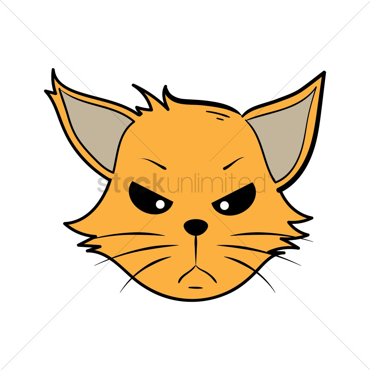 Cartoon Cat Mad Vector Image 2019423 Stockunlimited