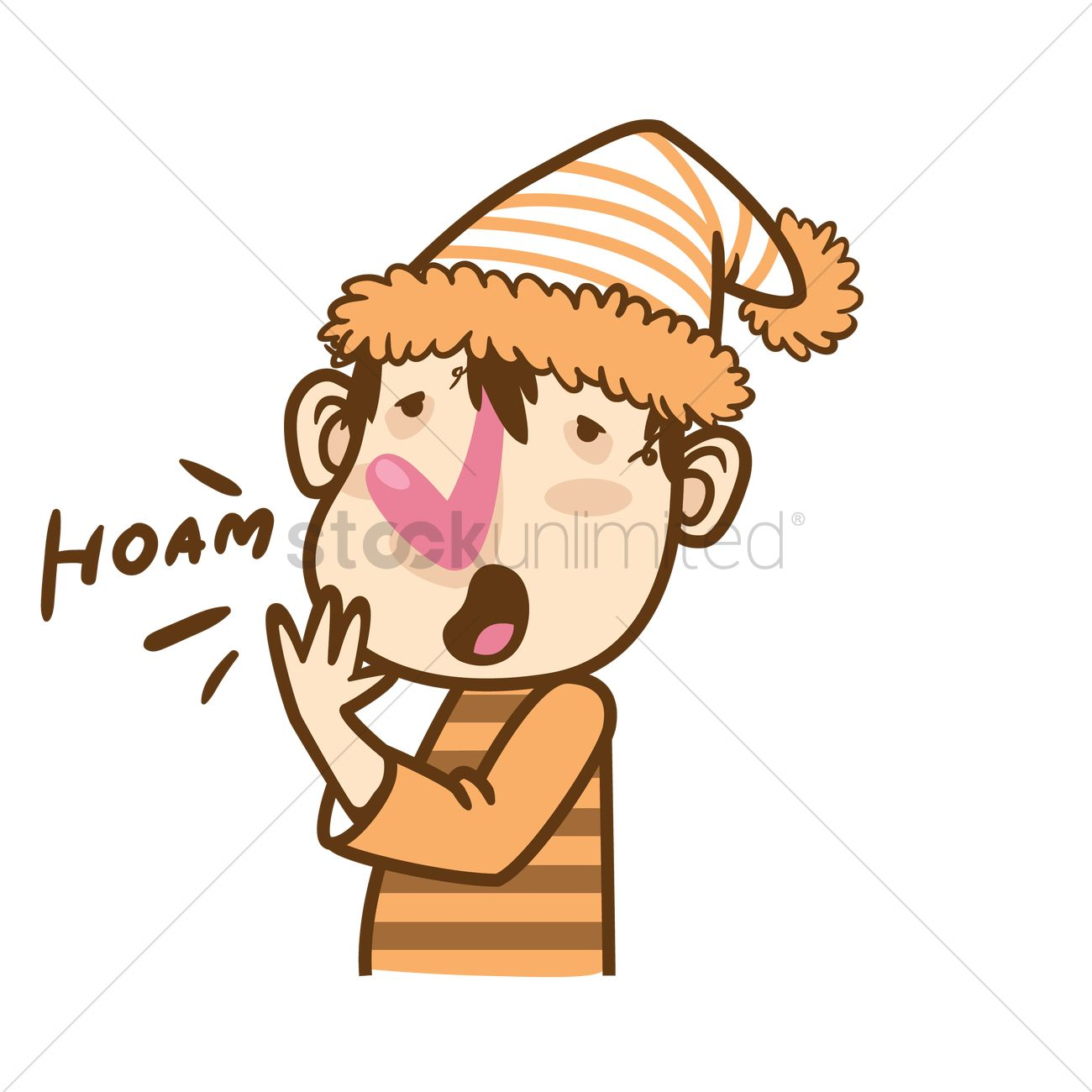 Cartoon character yawning Vector Image - 1935091 | StockUnlimited for Clipart Yawn  53kxo