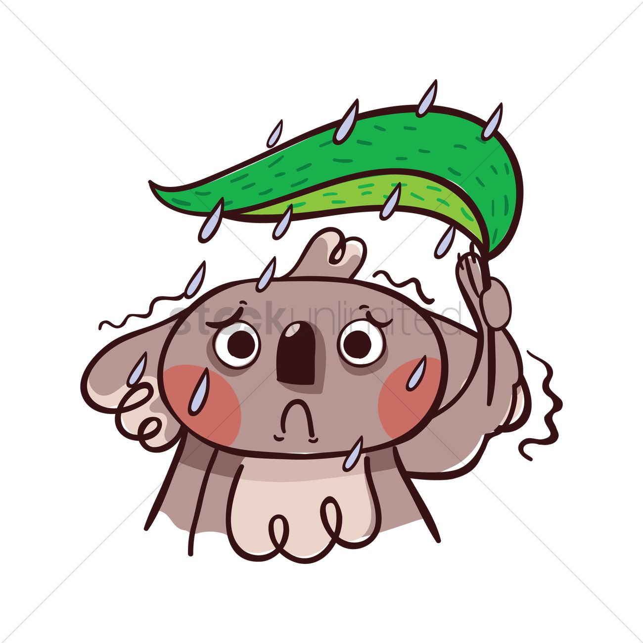 cartoon koala bear feeling gloomy vector image 1957127