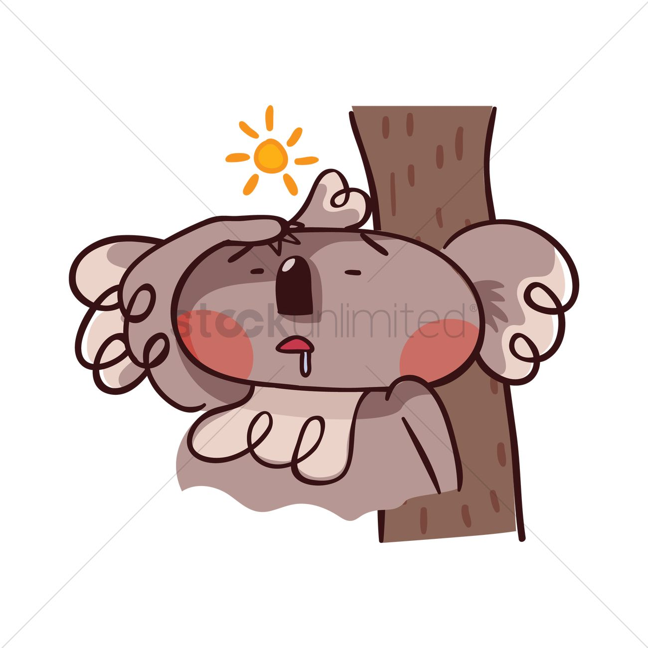 Cartoon Koala Bear Feeling Hot Vector Image 1957131 Stockunlimited Hugging a pillow that heart sign on it, celebrating valentine`s day. cartoon koala bear feeling hot vector