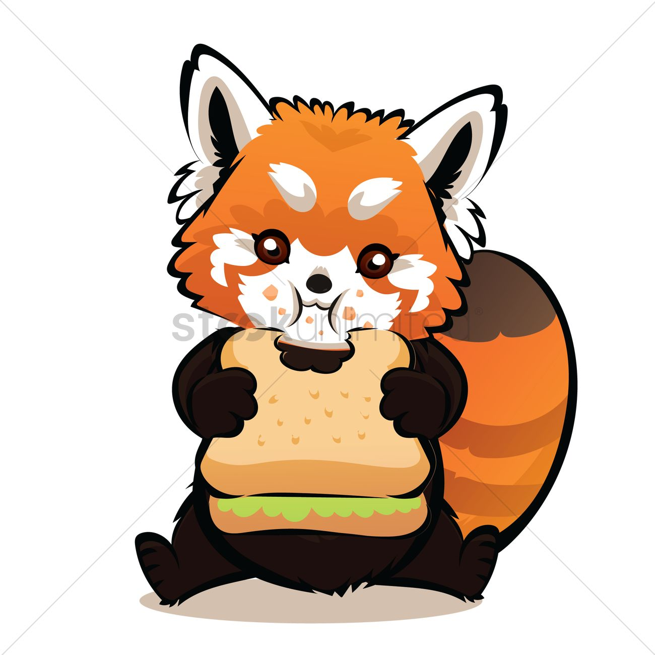 How to draw a cartoon red panda