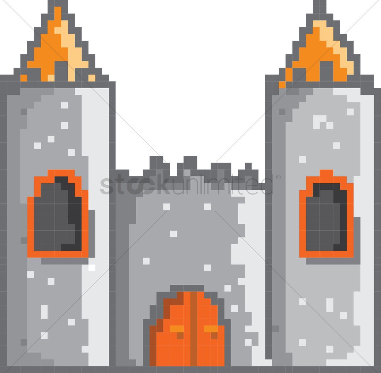 Castle Pixel Art Vector Image 2021123 Stockunlimited