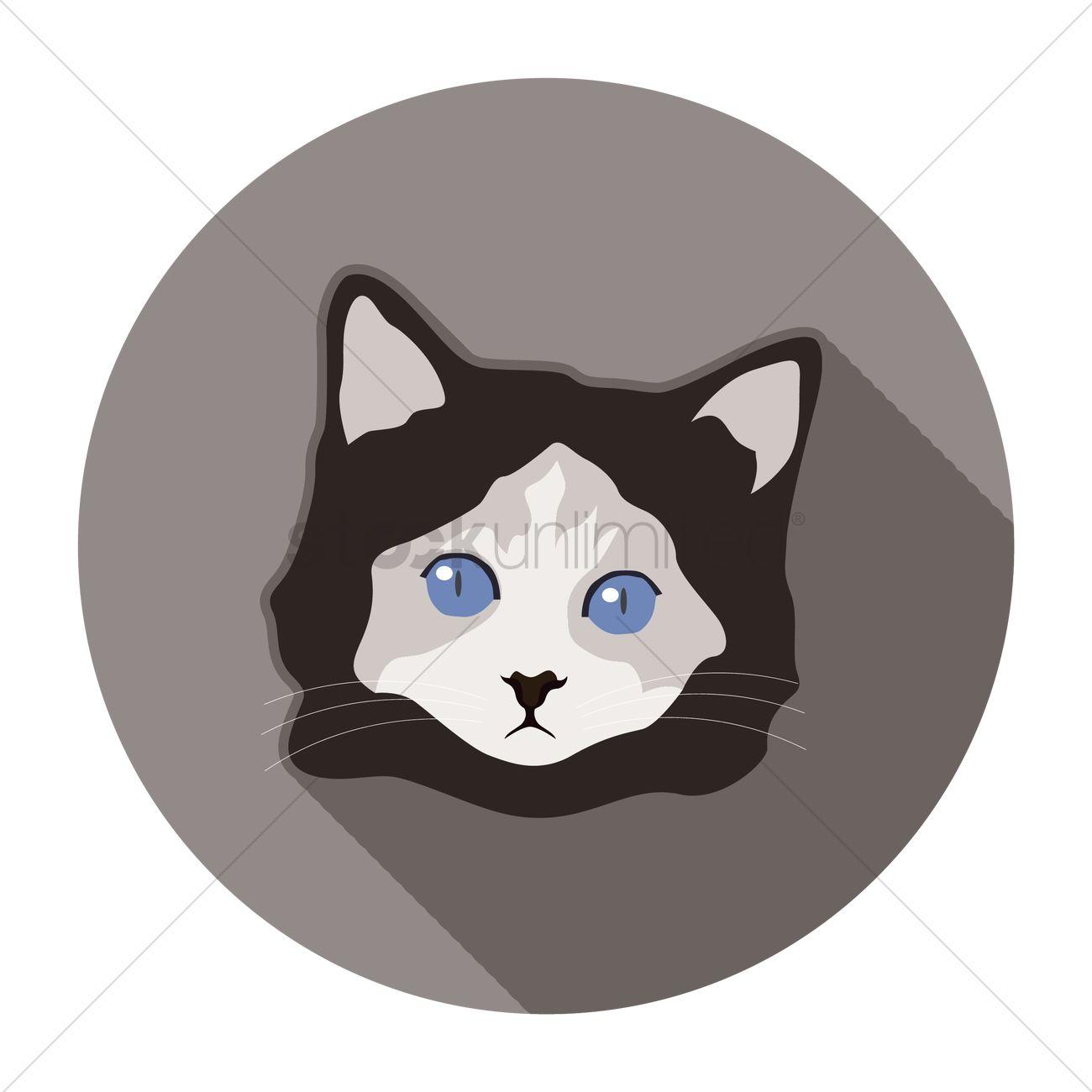 d00238c186c2 Cat face Vector Image - 1362443