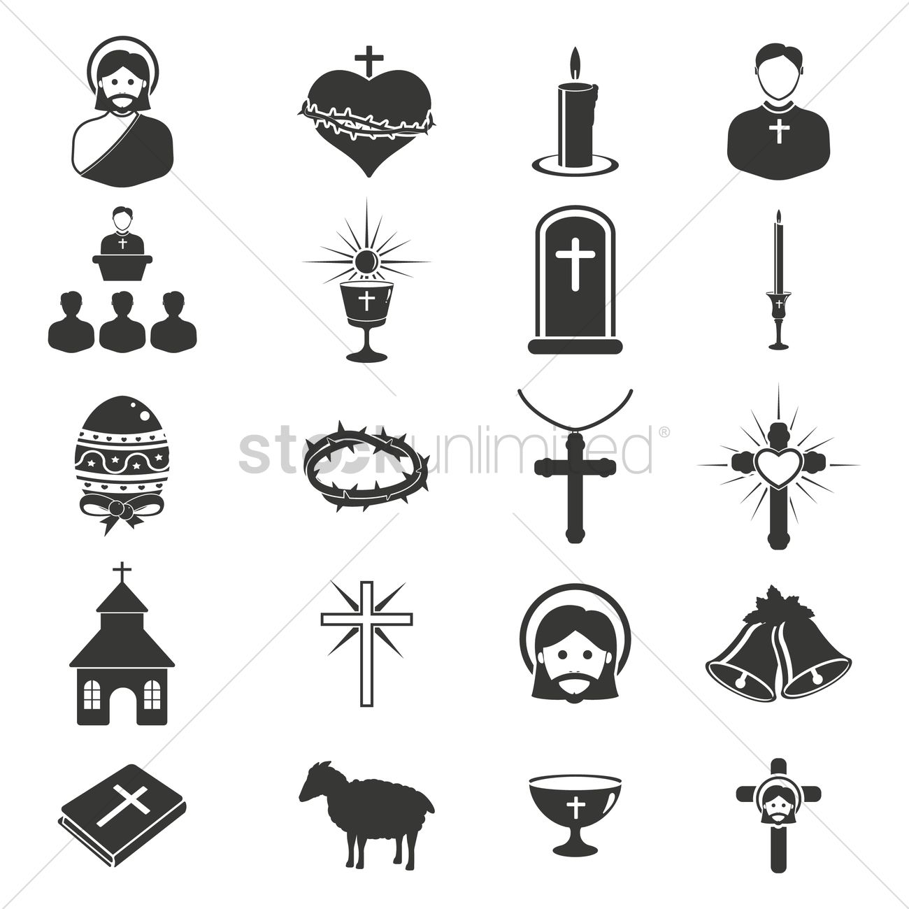 catholic religion icons vector image 1534275 stockunlimited