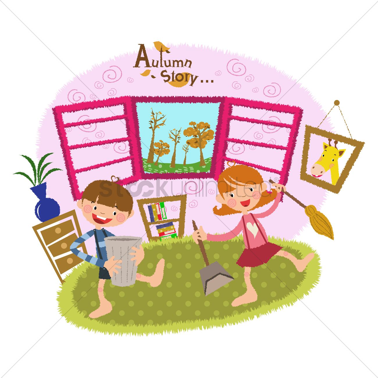children cleaning their room vector image 1497875 stockunlimited rh stockunlimited com girl cleaning room clipart clean your room clipart