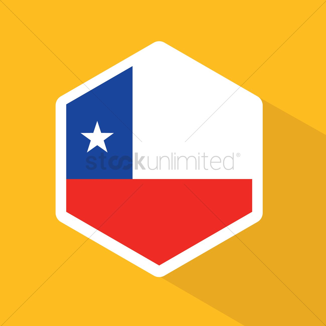 Chile flag hexagon button vector image 1322527 stockunlimited chile flag hexagon button vector graphic biocorpaavc Images
