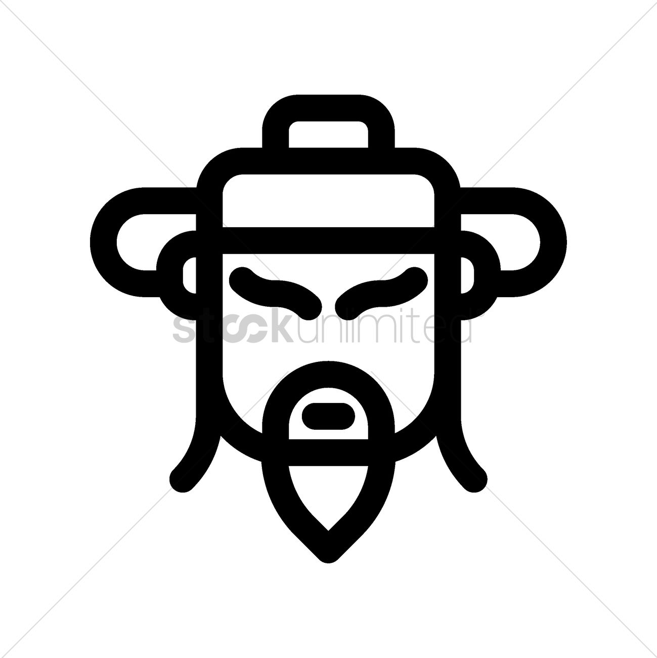 Chinese God Of Prosperity Icon Vector Image 1979095 Stockunlimited
