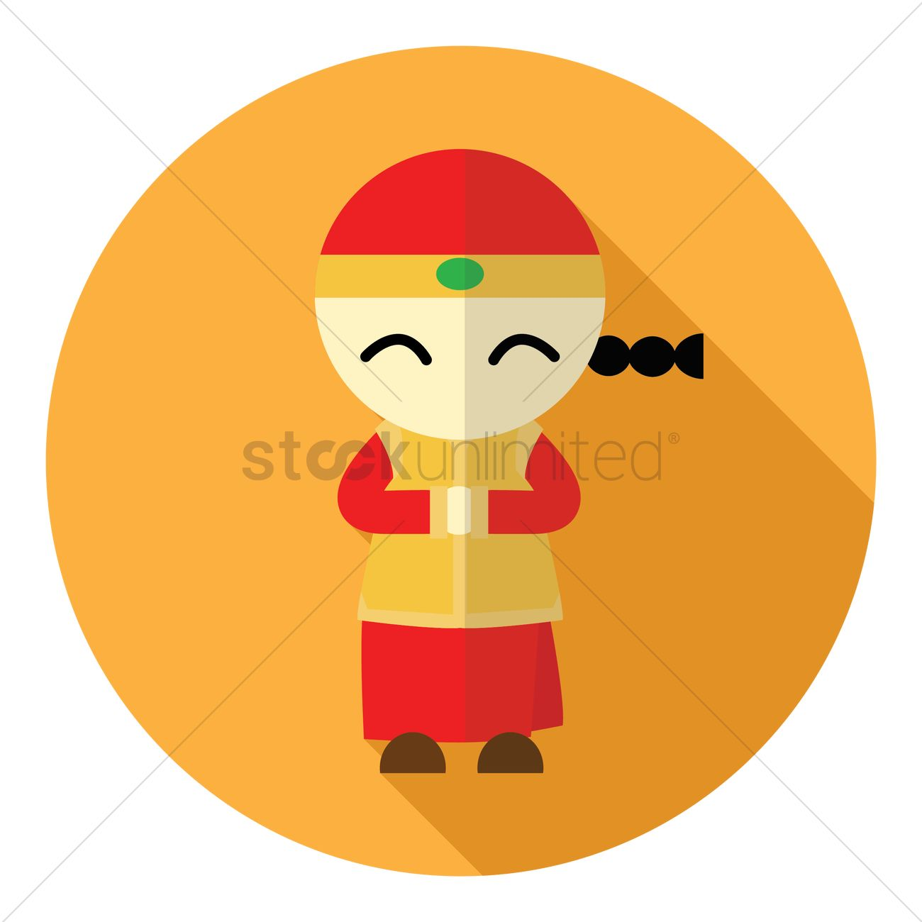 Chinese New Year Boy Traditional Greeting Design Vector Image