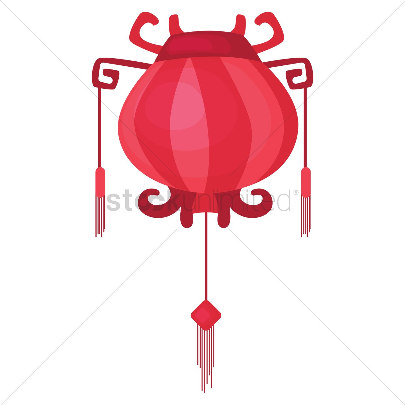 chinese new year traditional red lantern vector graphic - Chinese New Year Lantern