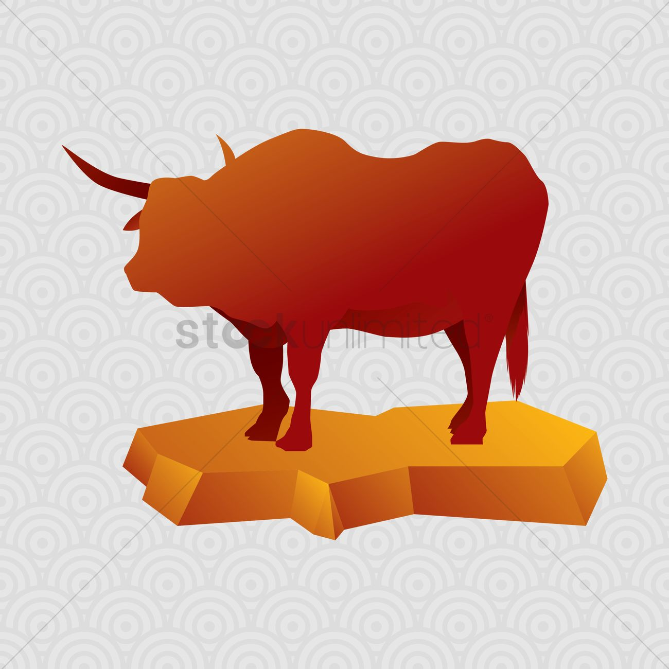 Chinese zodiac ox figurine Vector Image - 1373775